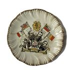 WW1 Pottery Plate - The Allies & Their Flags - Honour, Defence, Peace