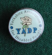 YADP Pin Badge - Charity -  Yorkshire Association for Disabled People, UK