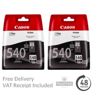 2x Original Canon PG540 Black Printer Ink Cartridges for Pixma MG3550
