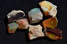 80ct  Honeycomb Ethiopian Rough Opal Multicolored Flash Spark Welo Fire Opals