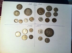 Collector Silver Coin Lot, 3 Ounces ASW, World and US Coins, 1800's-1900's LOT A