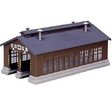 Kato 23-225 Hangar Bois 2 Emplacements / Wood 2 Stall Engine House Kit - N