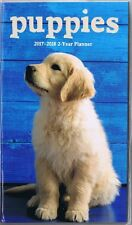 PUPPIES  2017-2018 - 2 YEAR POCKET CALENDAR AGENDA PLANNER APPOINTMENT BOOK DOG*