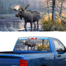 Forest Animals Moose Window Graphic Tint Decal Sticker For Truck Jeep SUV PICUP