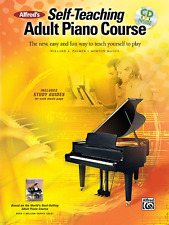 "ALFRED'S ""SELF-TEACHING ADULT PIANO COURSE"" MUSIC BOOK/CD-BRAND NEW ON SALE!!"