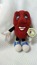Dancing California Raisin Collection Stuffed Toy 6' with Tags 2003
