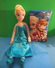 "Disney Frozen Plush Stuffed Doll 24"" n Follow Your Heart Pillow Story Book 14"""