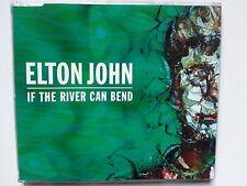 ELTON JOHN - IF THE RIVER CAN BEND CD MAXI RARE WIE NEU 1998 MERCURY +3 LIVE TRK