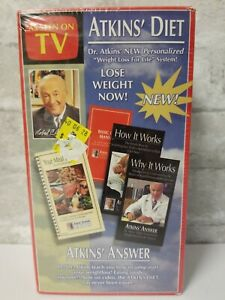 Atkins Diet  Weight Loss For Life System ( Brand New ) Box Set  VHS Tapes