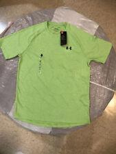 Nwt Under Armour The Tech Tee HeatGear T-Shirt Size Medium Teal Rush Green $25