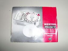 Weston Master V Photography Light Meters Analogue