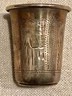 RUSSIAN Sterling Silver Shot Glass Kiev 84 Etched 1908 1926 Antique
