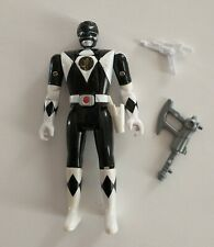 Vintage 1993 Mighty Morphin Power Rangers Flip Head Black Ranger Zach Complete