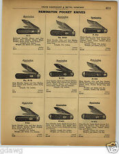 1922 PAPER AD 8 PG Reminton Pocket Knife Knives Pyremait Stag Handle
