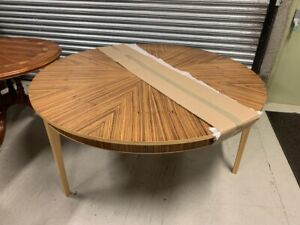 5'5 Brand New Bevan Funnell Pheonix Zebrano Wood Dining Table
