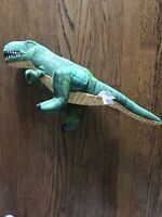 Nanco Stuffed Dinosaur 15 inches Plush TREX T-rex Green Blue Yellow
