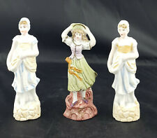 Continental Porcelain Figurine Set of Three Beautiful Ladies Miniature