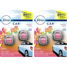 2 x Febreze Car Vent Clip, Gain Island Fresh, Air Freshener Twin Pack