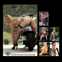 Z•1690 # Sexy Cute Girl Harley Davidson Swim Suit Glossy Photos Mini Poster