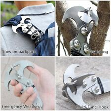 Hot Steel Folding Grizzly Hook Grappling Climbing Tail Carabiner Survival Tool