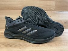 ADIDAS TRIPLE BLACK CARBON SPEED TRAINER 4 SHOES US MEN 15 CASUAL WORKING