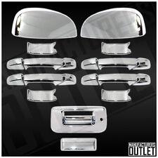 2007-2013 Chevy Silverado 1500/2500 4dr Door Mirror Tailgate w/ Lock Cover Trim
