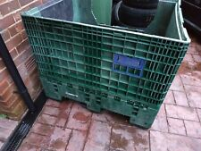 Classic PLASTIC FOLDING COLLAPSIBLE PALLET BOX STORAGE CONTAINER Used