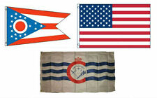 3x5 American & City of Cincinnati & State of Ohio Wholesale Set Flag 3'x5'