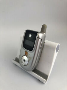Motorola V220 Silver&Black Orange Network Retro Mobile Flip Phone