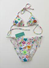 * NEU * Atmosphere weiss Multi Floral Bikini Größe 12 #1BX