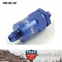 Proflow Competition Billet Reusable Fuel Filter 30 Micron Blue -8AN -8 AN New
