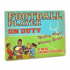 Football Player On Duty Sign Black College Professional Pro League National Gift