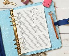 TIMED Daily Insert A5 size  Filofax KikkiK  planner insert Day on 1 page