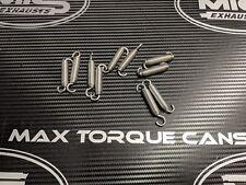 10 x 60mm Stainless Steel Motorbike Exhaust Springs & 20 Stainless Spring Hooks