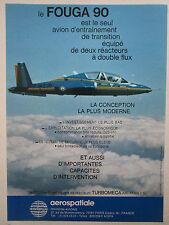 1/1979 PUB AEROSPATIALE FOUGA 90 MILITARY TRAINER TURBOMECA ASTAFAN FRENCH AD