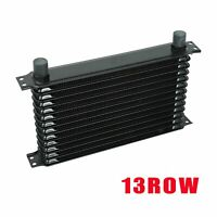 Universal Aluminum Engine Transmission Oil Cooler 13 Row 10AN New