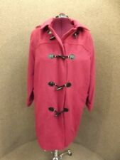J London NEW Timeless Classic Burgundy Wool Tailored Toggle Coat w/ Hood Sz 18