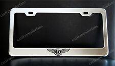 BENTLEY Logo License Plate Frame, Custom Made of Chrome Plated Metal