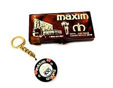 Vintage Maxim Casino Solid Perfume $100 Key Chain Chip Medallion Las Vegas