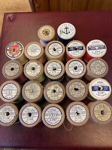 22 Vintage Wooden Cotton Reels 10 SYLKO + Others.Collectables > Sewing > Bobbins