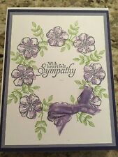 Stampin Up Handmade Greeting Card Sympathy Flowers purple