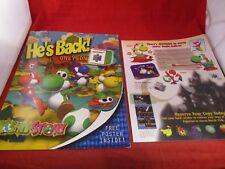 Yoshi's Story Nintendo 64 N64 Promo Mailer Envelope + Promotional POSTER!