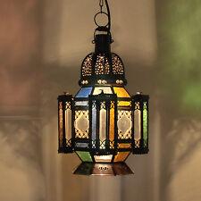 Orientalische Marokkanische Lampe Glaslaterne arabische Hängeleuchte HALA  H50cm
