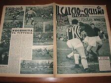 IL CALCIO E CICLISMO ILLUSTRATO 1954/13 JUVE BOLOGNA NOVARA INTER TORINO GENOA