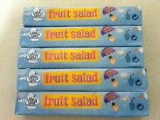 5 TUBES OF KID FAVOURITE BARRATT  FRUIT SALAD CHEWS-RETRO BRITISH SWEETS