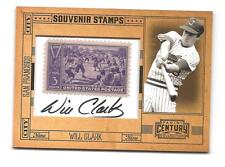 WILL CLARK 2010 PANINI CENTURY COLLECTION AUTO STAMP # 8/10 SP SF GIANTS