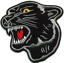 Black panther cat puma jaguar leopard cougar animal applique iron-on patch S-502