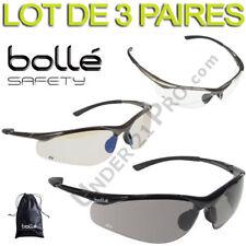 Lot de 3 Lunettes Bollé Safety CONTOUR Sport Soleil