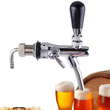 Silver Adjustable Draft Beer Faucet Tap G5/8 Shank Flow Controller For Kegerator