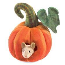 Folkmanis Mouse in Pumpkin Finger Puppet